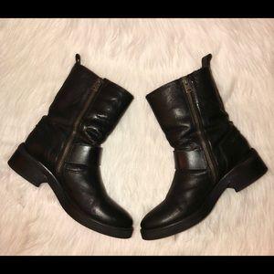 "AllSaints""Shoreditch""Leather Buckle Boot,Size-39/8"